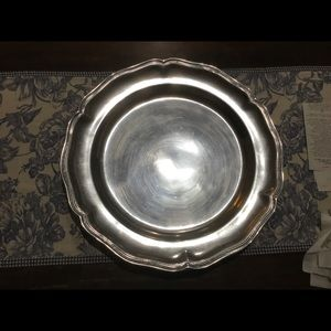 Heavy Vintage Pewter Serving Tray